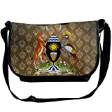 Lov6eoorheeb Unisex Coat Of Arms Of Uganda Wide Diagonal Shoulder Bag Adjustable Shoulder Tote Bag Single Shoulder Backpack For Work,School,Daily