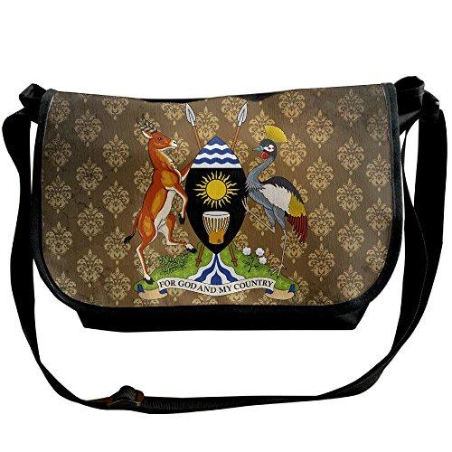 Lov6eoorheeb Unisex Coat Of Arms Of Uganda Wide Diagonal Shoulder Bag Adjustable Shoulder Tote Bag Single Shoulder Backpack For Work,School,Daily by Lov6eoorheeb