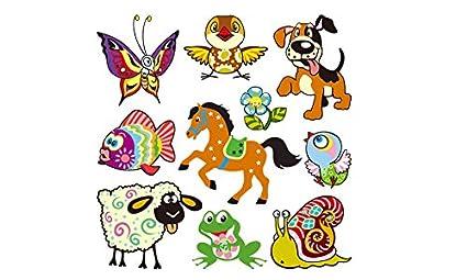 Pegatinas transfer parche termoadhesivo animales sicodelicos para vestidos, camisetas, pijamas, sudaderas, cazadoras