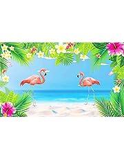 Fondo Flamingo CHALA Banner de fiesta tropical Aloha hawaiana Luau Fotografía Photo Booth Telón de fondo para verano Playa Piscina Boda Decoración de mesa de pared, 113cm x 186cm
