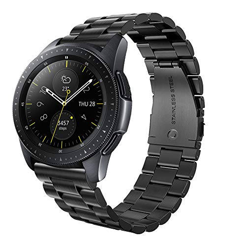 OenFoto Compatible Samsung Galaxy Watch (42mm) Bands, 20mm Stainless Steel Strap Wrist Replacement Band Samsung Gelaxy SM810 SM815 Smart Watch