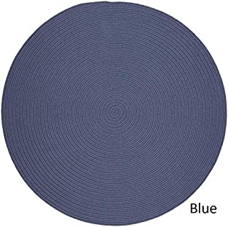 product image for Rhody Rug Woolux Wool l Braided Rug (10' Round) Sailor Blue