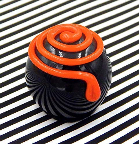 Glass Chocolate Halloween Spiral Handmade Table Décor -