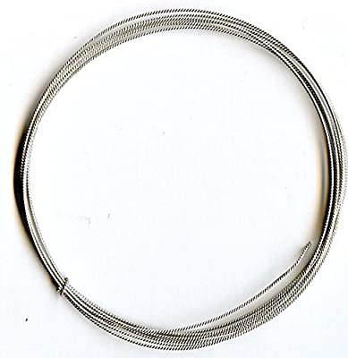 "Twist Wire 20 Gauge (0.032"") Sterling Silver Round Soft Temper (5 Feet) by uGems"
