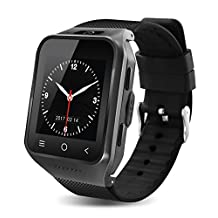 S8 3G Wireless Bluetooth Smart Watch with Camera Sleep Monitor Fitness Wrist watch For Android Samsung Galaxy S5 S6 S7 Edge S8 LG G3 G4 G5 Huawei (8G, Black)