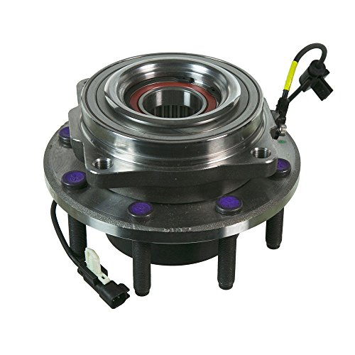 Detroit Axle - New Complete Driver or Passenger Front Wheel Hub and Bearing Assembly for 2011-15 Ford F-250 F-350 Super Duty 4x4 SRW Single Rear Wheel Models ONLY