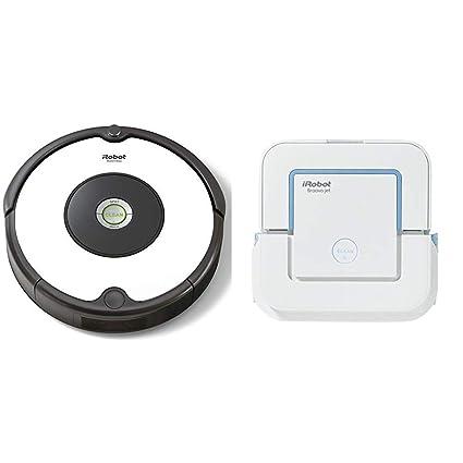 iRobot - Set con Roomba 605 Robot Aspirador para Suelos Duros y Alfombra, Tecnología Dirt