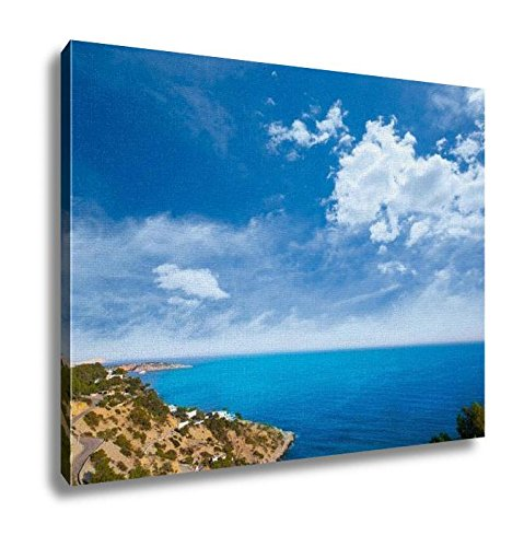 Ashley Canvas, Ibiza Es Cubells Mediterranean View In San Jose Spain, Home Decoration Office, Ready to Hang, 20x25, AG5651953 by Ashley Canvas