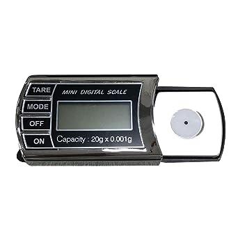 BESTONZON Escala de laboratorio digital de precisión Mini Pocket Scale de 20 g para monedas Jewlery Drug: Amazon.es: Hogar