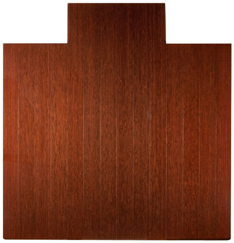 Anji Mountain AMB24025W Deluxe Bamboo Roll-Up Chairmat with Lip, Dark Cherry, 55 x 57-Inch by Anji Mountain