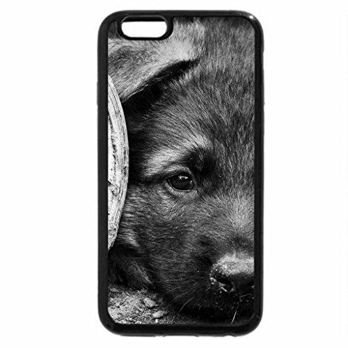 iPhone 6S Plus Case, iPhone 6 Plus Case (Black & White) - Small dog