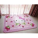 Sport do Cartoon Anti-Skidding Children Carpet,Comfortable Kids Bedroom Playing/Crawling Mat,Hello Kitty Living...