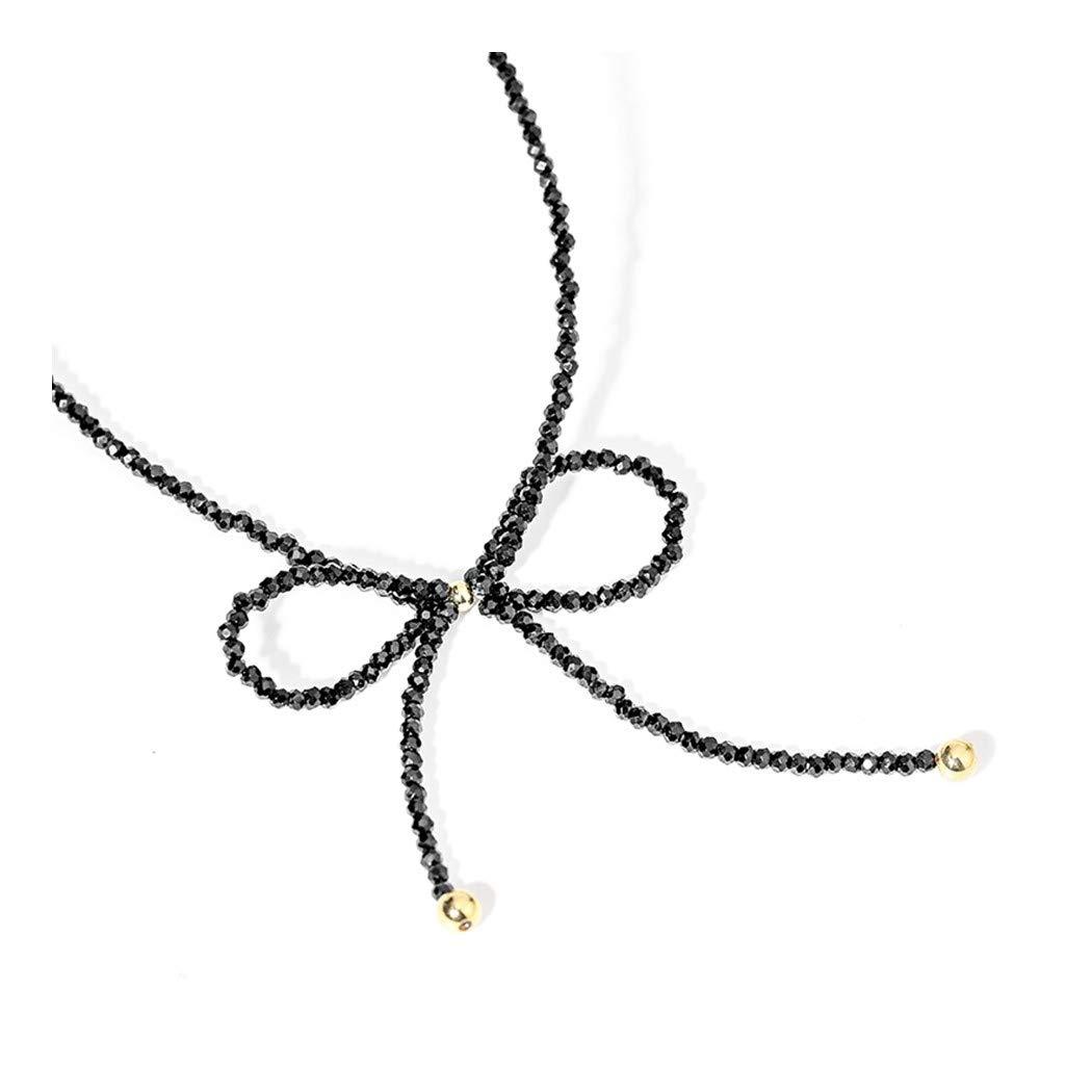 ZUXIANWANGレディースボウネックネックレスファッションミニマリストジョーカーチェーンネックレスネックレス   B07KXM8B1L
