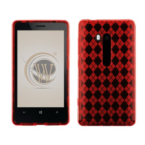 Checkered Red TPU Protector Case for T-Mobile Nokia Lumia 810