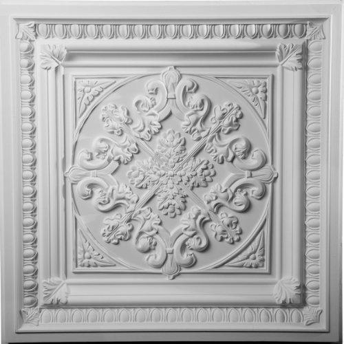 Ekena Millwork CT24X24ED  24-Inch W x 24-Inch H Edwards Ceiling Tile