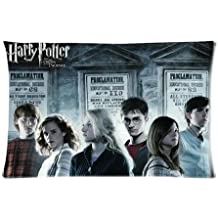 """Movie Harry Potter Pillowcase Standard Size Design Cotton 50% & Polyester 50% Pillow Case 16""""X24"""" (Two sides)"""