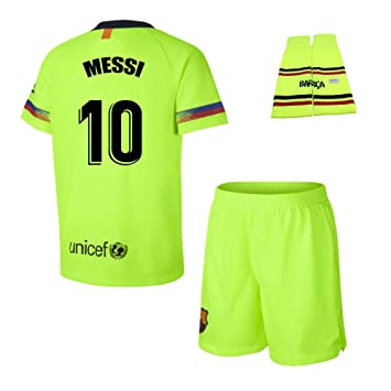 Personalizador Conjunto Complet Infantil FC Barcelona Réplica Oficial Licenciado de la Segunda Equipación Temporada 2018-19 - Dorsal Messi 10