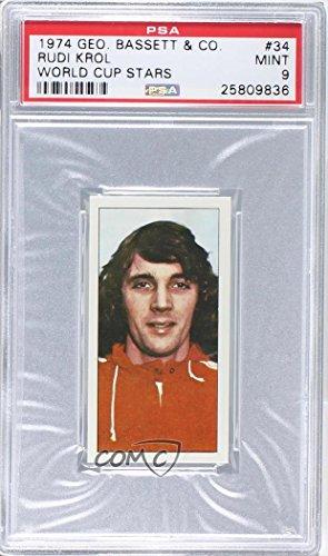 Rudi Cup - Rudi Krol Graded PSA 9 MINT (Trading Card) 1974 Bassett World Cup Stars - [Base] #34