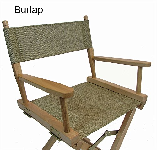 Mesh Directors Chair Replacement Cover Round Stick Burlap