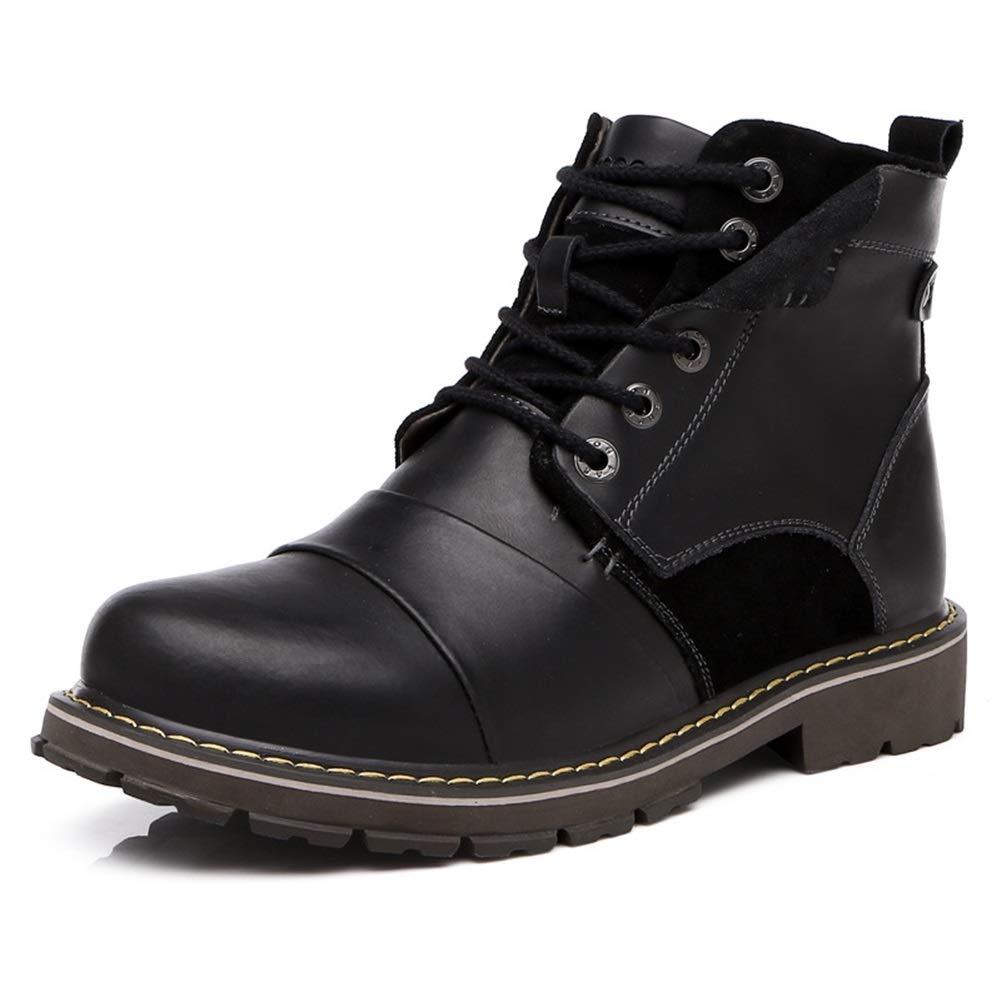 Männer Schuhe Herrenmode Stiefel, High-Top Sport Outdoor Schuhe Herren Wanderschuhe Leder Arbeitsschuhe Herren Martin Stiefel Herrenmode Stiefel (Farbe   Braun, Größe   38)