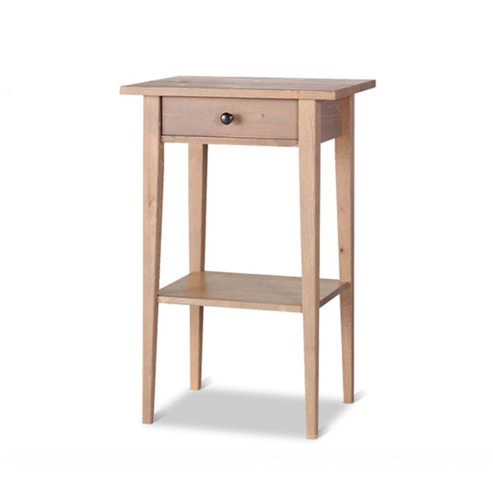 ナイトテーブル ベッドサイドキャビネットヨーロッパのソリッドウッドベッドサイドキャビネットベッドルームベッドサイドテーブルベッドサイドキャビネットロッカー (色 : Grayish brown) B07FBFFH98Grayish brown