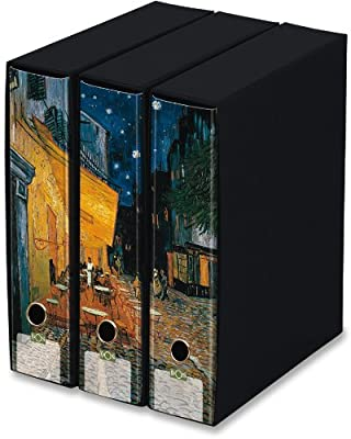 KAOS Archival 2ring Binders with slipcase, Spine 8 cm, 3 pcs Set: Amazon.es: Electrónica