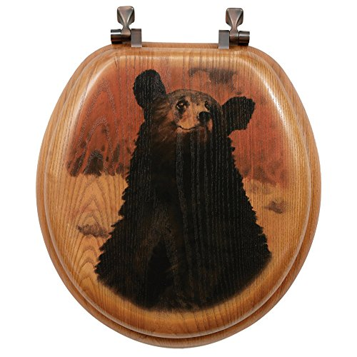 Bear Cub Toilet Seat - Round by Black Forest Decor