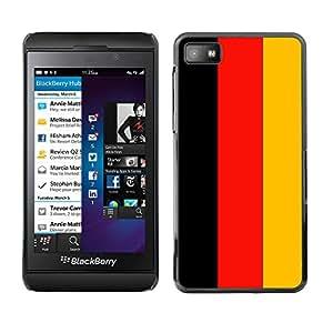 - Flag - - Monedero pared Design Premium cuero del tir¨®n magn¨¦tico delgado del caso de la cubierta pata de ca FOR Blackberry Z10 Funny House