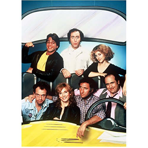 Taxi Cast (Judd Hirsch 8 Inch x10 Inch Photograph Taxi (TV Series 1978 - 1983) w/Cast in Cardboard Cab kn)