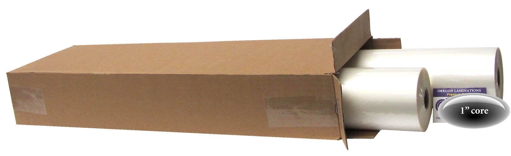USI WrapSure Standard Thermal Roll Laminating Film, 1 Inch Core, 3 Mil, 27 Inches x 250 Feet, Clear Gloss, 2 Rolls by USI