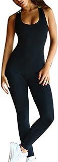 Huateng Pantaloni da Fitness da Donna Tuta, Pantaloni Sportivi da Tuta Donna Tuta Sportiva Tuta da Ginnastica Tuta