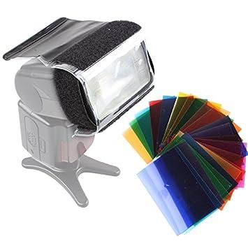 24 x Farbfolien Filter Set mit Halterung zu: Amazon.de: Kamera