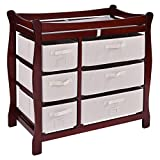 Cherry Wood Baby Changing Tables With Ebook
