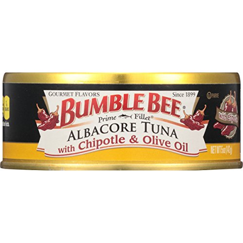 Bumble Bee Prime Fillet Solid White Albacore Tuna in Olive Oil, Chipotle, 5oz can (Pack of 12)