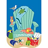Lovin' Life Beach Chair Turqoise And Blue 30 x 44 Rectangular Large House Flag