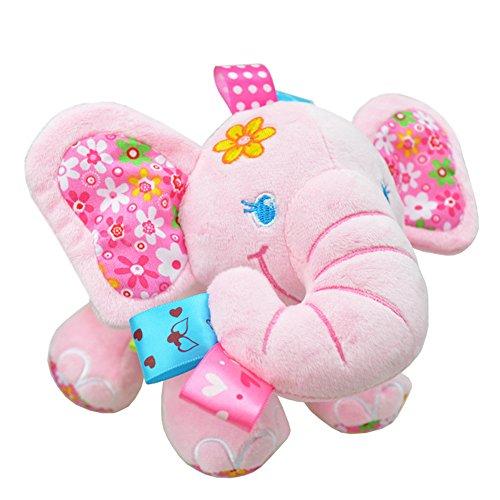 Musical Newborn Doll (Pull Music Elephant Stuffed Plush Toy Pink)