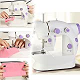 Flying Birds White Mini 2-Speed Double Thread, Double Speed, Portable Sewing Machine With Light and Cutter