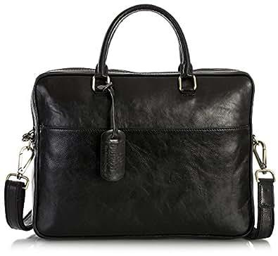 8e21e42c062d4f OUTPOST Mens Genuine Leather Messenger Shoulder Cross Body Briefcase Work  Laptop Bag (Model 432)