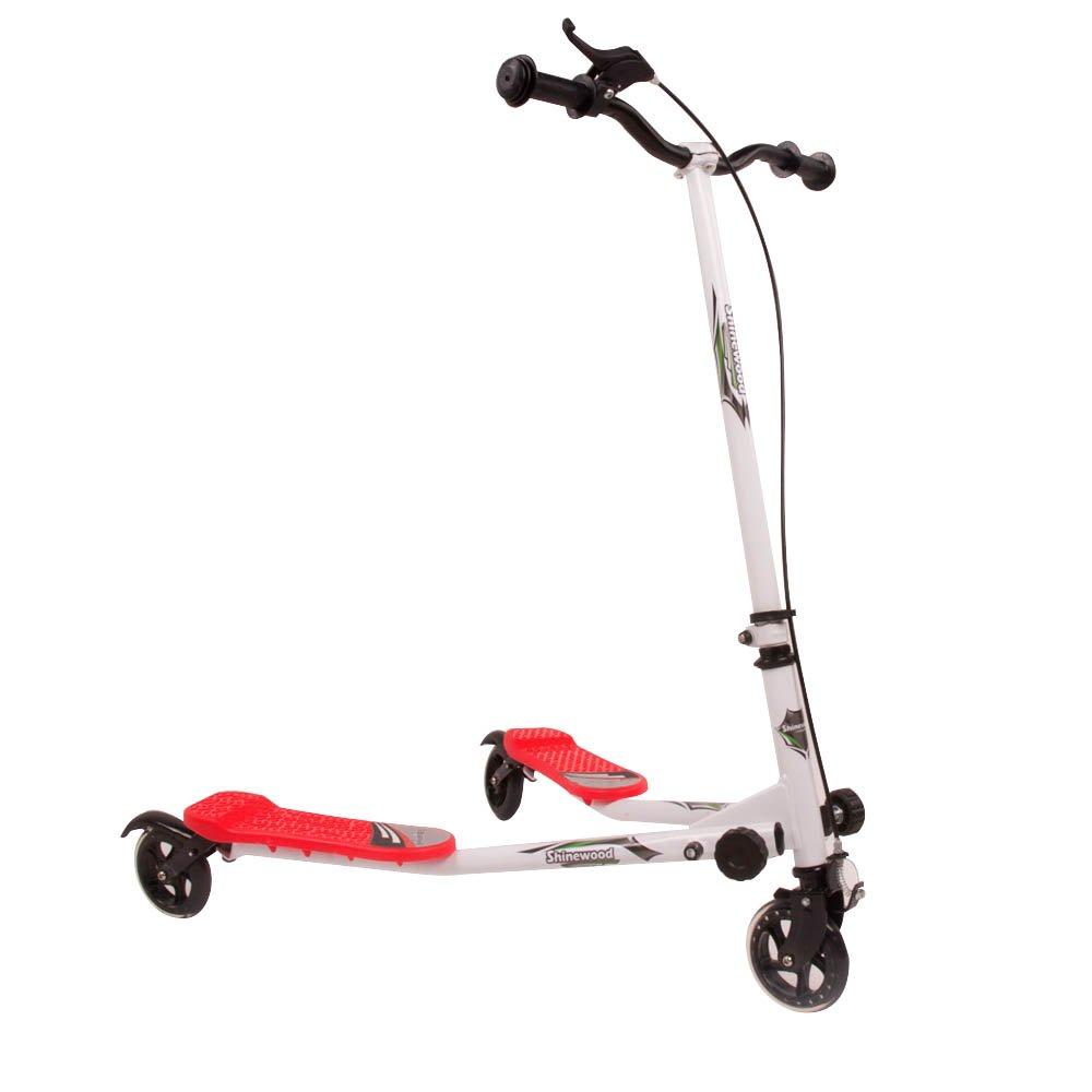 Ajustable 3 ruedas patinete pequeño Tri empuje alado ...