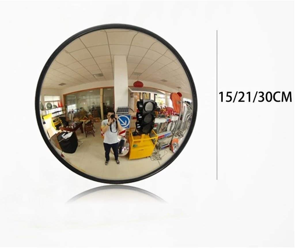 WENYAO Garage Diebstahlschutzspiegel schwarzer PC Weitwinkelobjektiv Wetterfester geeignet f/ür die Sicherheit im Gesch/äft 15CM // 21CM // 30CM konvexer Spiegel langlebiger Gr/ö/ße: 15CM