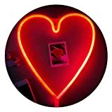 Neon Light,LED Heart Sign Shaped Decor Light,Wall Decor for Valentine's Day,Birthday party,Kids Room, Living Room, Wedding Party Decor (Red)