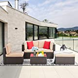 Vongrasig 5 Pieces Small Patio Furniture