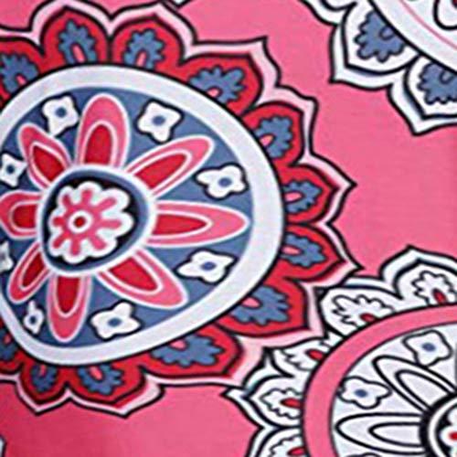 Gasa Flores De Camisa Estampado Mangas Mujer Informal Rojo Verano Sin Camiseta Seworld Chaleco Con xP67wR7q