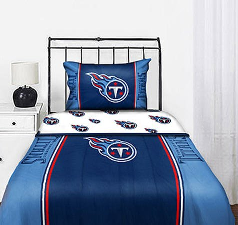 Tennessee Titans NFL Full Comforter & Sheet Set (5 Piece Bedding)