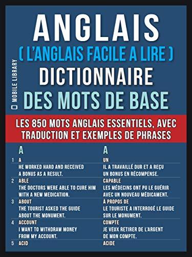 Amazon Com Anglais L Anglais Facile A Lire Dictionnaire