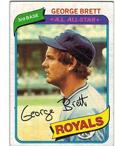 - 1980 Topps AL Champion Kansas City Royals Team Set with George Brett & Dan Quisenberry RC - 28 Cards
