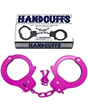 Metal Handcuffs with Key,Safety Party Supplies Accessory Pretend Play Hand Cuffs