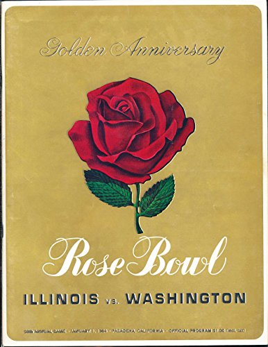 - 1964 Rose Bowl Football Program Illinois vs Wahington