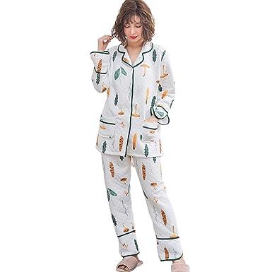 e61e5e45641ba XFentech Ensemble de Pyjama 2 Pièces de Maternité pour Femme - Vêtements de  Nuit d