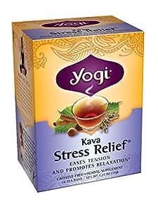 Yogi Herbal Tea, Kava Stress Relief, 16 Tea Bags (Pack of 6), Packaging May Vary